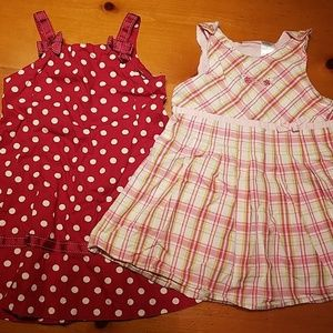 Lot of Two Toddler Dresses Gymboree and Izod